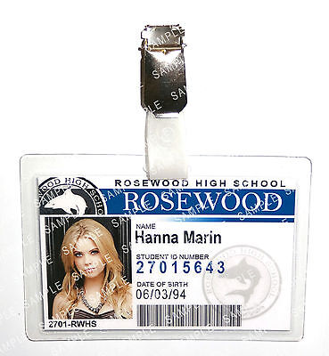 Pretty Little Liars Hanna Marin ID Badge Cosplay Prop Costume Gift Christmas