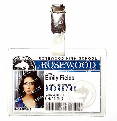 Pretty Little Liars Emily Fields ID Badge Cosplay Prop Costume Gift Christmas