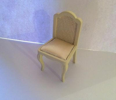 Dolls House French Style Cream Chair 1:12 Scale