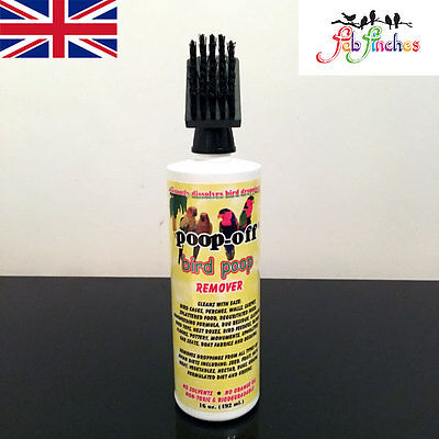 Poop Off Bird Poop Remover Birds Poo Aviary Cage Cleaner With Brush 16oz