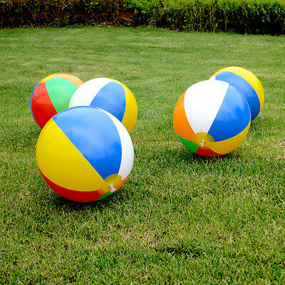 5pcs Inflatable Blow up Beach Ball Swimming Pool Garden Ball Holiday Party