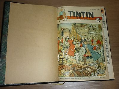 2 X Tintin Reliures 1948 Edition Belge Completes