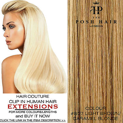 """Clip In Human Hair Extensions Full Head 18"""", Colour #8/27 More Colours Lengths"""
