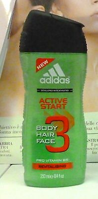 Adidas doccia shower gel shampoo Active Start 250 ml homme uomo sport