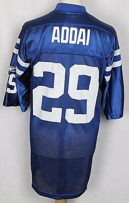 Addai #29 Indianapolis Colts American Football Jersey Reebok Mens Xl