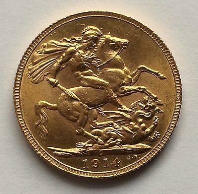 1914 King George V Canadian Mint Gold Sovereign VERY RARE!