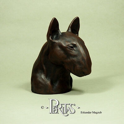 English Bull Terrier dog Bullterrier bully PERITAS sculpture statue art ブル・テリア