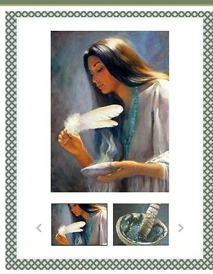 White Sage Smudge Stick Kit Ritual House Cleansing Psychic Incense Gift Boxed
