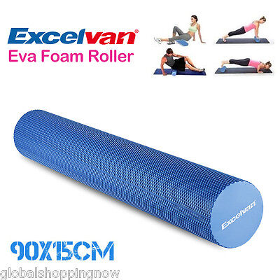 YOGA FOAM ROLLER EVA RULLO CILINDRO DI PILATES FITNESS PROFESSIONALE 90x15cm IT