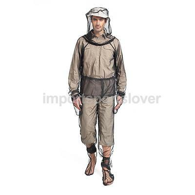 Mosquito Bug Bee Fly Insect Repellent Mesh Net Jacket Pant Set Fishing XK