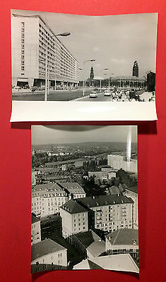 2 x Original Gross Foto DRESDEN St. Petersburger Strasse    ( F15325