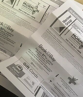 Two Stalls Tickets To Book Of Mormon