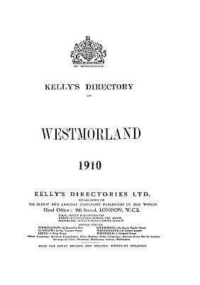 Kelly's Directory of Westmorland, 1910