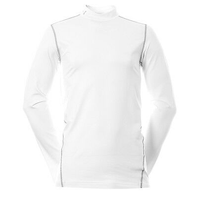 Under Armour Golf Evo ColdGear Fitted Mock White Grey Size M