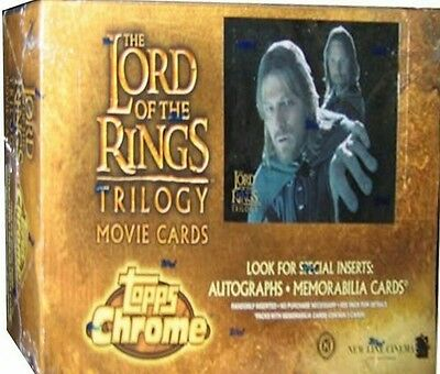 Lord of the Rings Trilogy trading card sealed box. 3 hits per box!