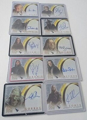 Lord of the Rings Return of the King TOPPS signed autograph card collection
