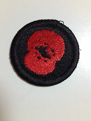 Girlguidng scout cloth Remembrance poppy cloth badge