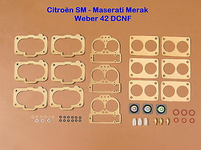 Citroën Sm - Maserati Merak Am 122 - Weber 42 Dcnf Joints - Repair Kit -
