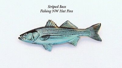 Striped Bass Hat Pin or Lapel Pin