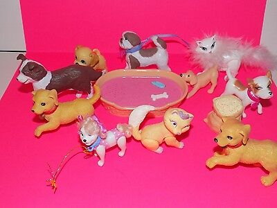 Barbie Dog and Cat lot with Accessories