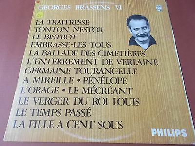Georges Brassens Vi (6): Vinyl Lp Made In England: Philips Label: 844.755 By