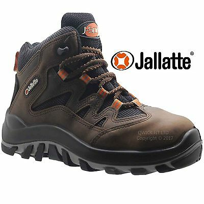 Mens Jallatte Waterproof Safety Work Boots Shoes Leather Hiker Composite Toe Cap