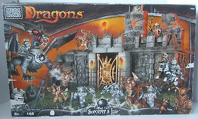 Mega Bloks Dragons 9886 Sorcerers Lair Complete 165 Sealed Pieces in Open Box