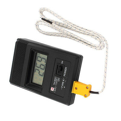 TM-902C Digital LCD K Type Thermometer Meter Single Input + Thermocouple Probe M