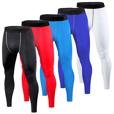 Mens Compression Long Pants Running Tights Gym Workout Base Layers Sweatpants