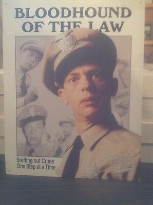 Barney Fife, Bloodhound Of The Law, From The Andy Griffith Show Metal Picture