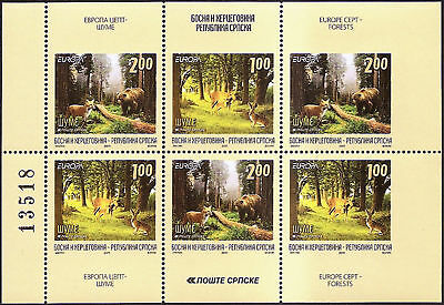 BOSNIA-SERBIA 2011,EUROPE CEPT-Forests,booklet,MNH