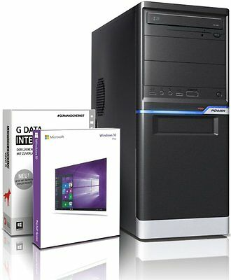 PC Quad Core Computer Allround A10 4655  8GB 1TB Rechner Komplett Windows 10