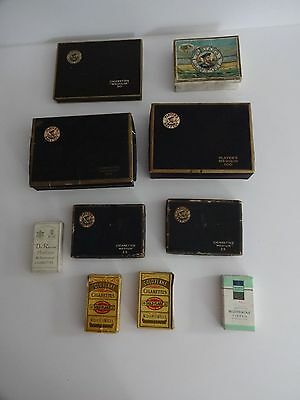 Vintage Collection 9 Cigarettes packets+1 tin-Players,gold flake,Deszke,woodbine