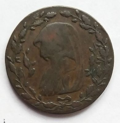 1793 Anglesey Mines Druids Head Halfpenny Token D&h 451 Scarce