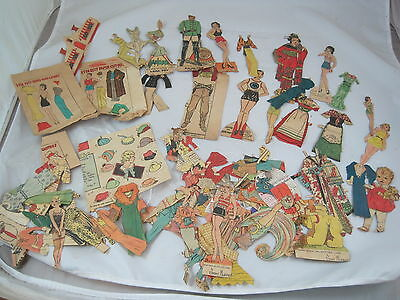 Vintage 1930s Newspaper Comic Cut Outs Paper Dolls & Clothing Etta Kett & etc