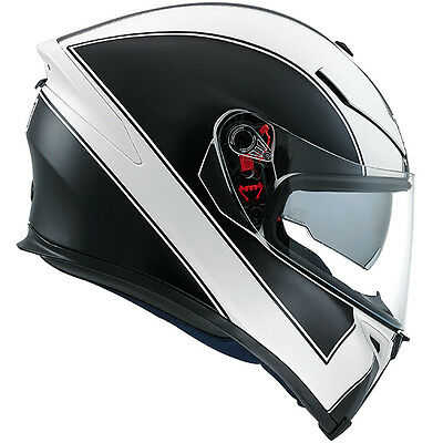 AGV K5 Enlace Full Face Motorcycle Motorbike Helmet - Matt White / Black