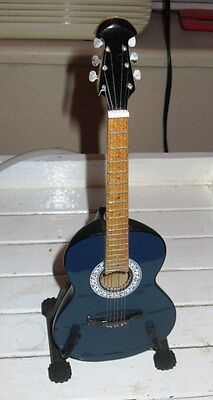 Miniature Mini Guitar With Stand .(9.1/2. inches)