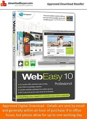 Avanquest WebEasy 10 Professional - for Windows - (Approved Digital Download)