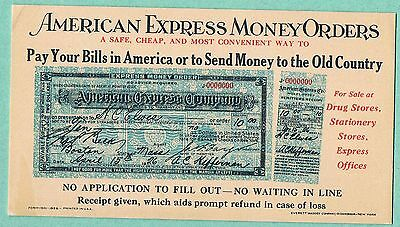 1926 American Express Money Orders Promo Card