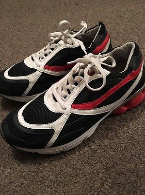 Men's Moschino Trainers Size Uk 7 Black White Red