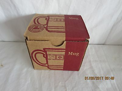 Longaberger Pottery Coffee Mug Cup Traditional red Woven Traditions New in box