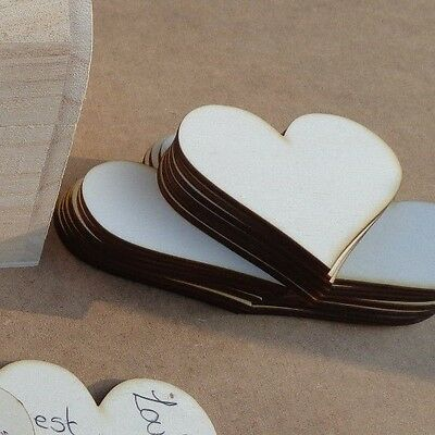 Wedding Guest Book Plywood 60mm Hearts