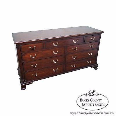 Henkel Harris Solid Mahogany Chippendale Style Long Dresser
