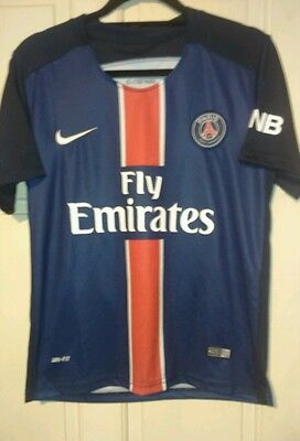 Paris Sg 2015-16 Home Football Shirt.  By Nike. Size Small.