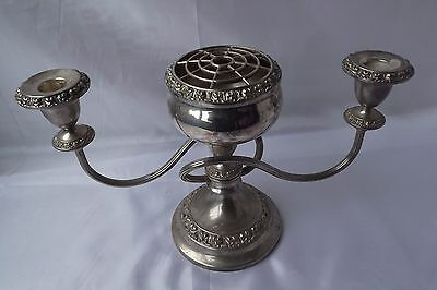 silver plated candlestick rose bowl