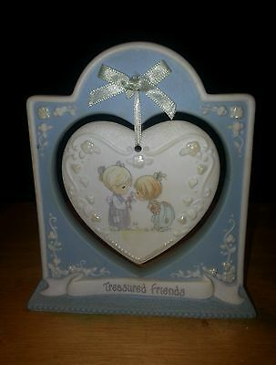 Collectible Porcelain Precious Moments Hanging Heart Friendship plaque numbered