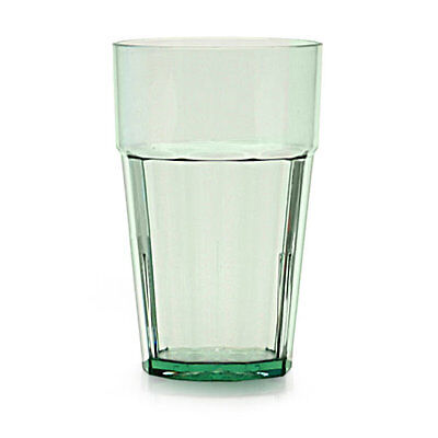 Thunder Group PLPCTB110GR 10 oz. Green Plastic Diamond Tumbler - Case of 12