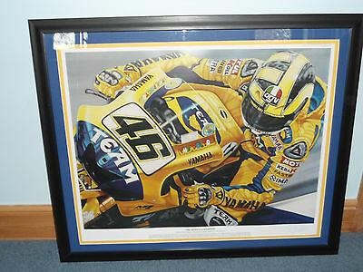 ltd edition valentino rossi framed print