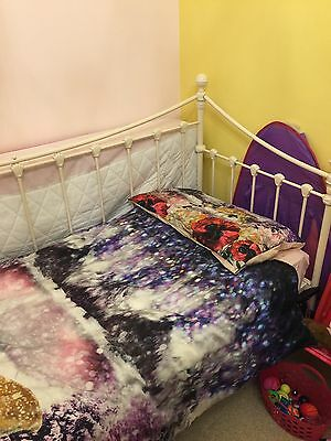 """Laura Ashley Day Bed Victorian White 2ft 6"""" With Mattress Guest Bedroom L@@k Ol6"""