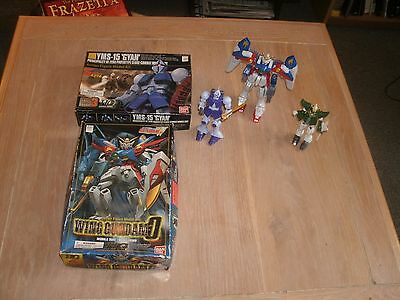 Lot of 3 Gundam Robots, Two in Box w/ Instructions, Plus Extra Parts